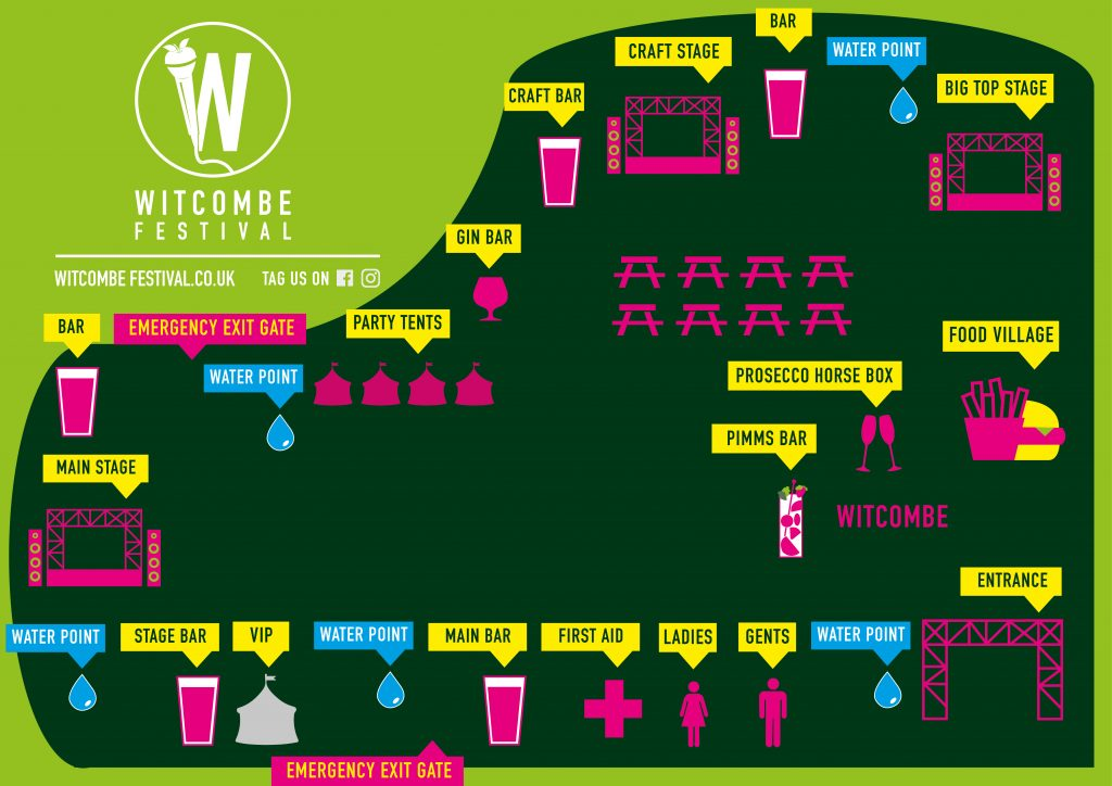 Witcombe festival site map